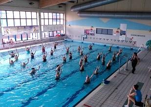Ośrodek Sportowo Rekreacyjny w Zabierzowie Maraton Aqua aerobicu z okazji DNIA KOBIET