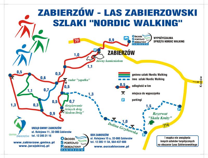 Ośrodek Sportowo Rekreacyjny w Zabierzowie W sprzedaży : kijki do Nordic Walkingu