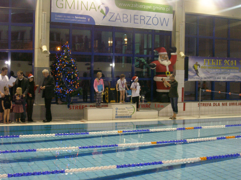 Ośrodek Sportowo Rekreacyjny w Zabierzowie Zawody Mikołajkowe-grudzień 2013